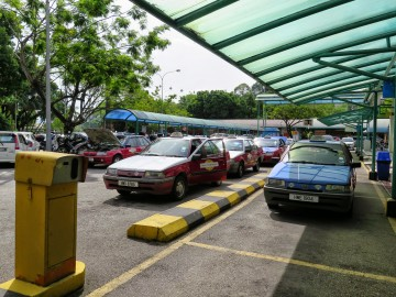 Taxi services at Duta Bus Terminal