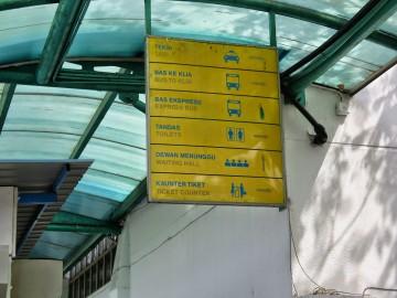 Signboard, Duta Bus Terminal