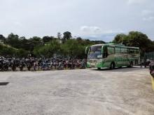 Bus arriving Duta Bus Terminal