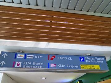 Signboard, Stesen Sentral Kuala Lumpur