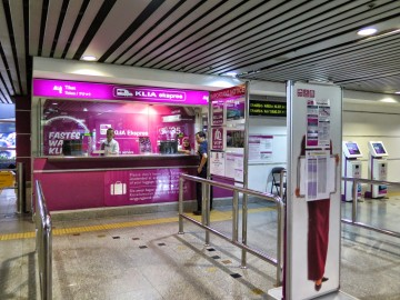 Ticketing counters, KLIA Ekspres station
