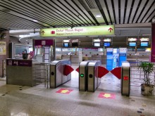 Luggage check-in counters, KLIA Ekspres station
