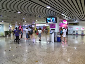 KLIA Transit ticketing counters, KL Sentral