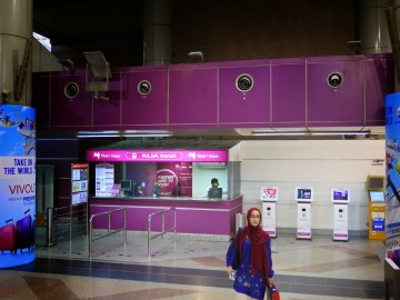 Ticketing counters, KLIA Transit station