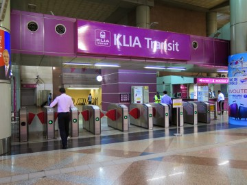 Ticketing gates, KLIA Transit station