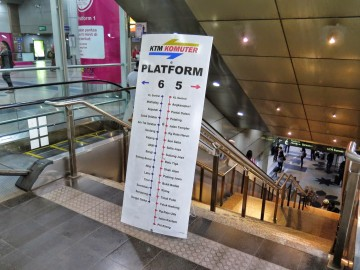 Elevators and staircase, KL Sentral KTM Komuter station
