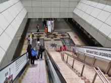 Elevators and staircase, KL Sentral KTM Komuter station