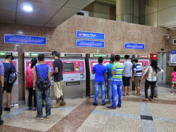 Ticket kiosks, KL Sentral LRT station