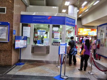 Ticket counter, KL Sentral LRT station