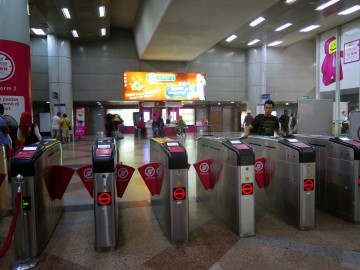 Ticketing machines, KL Sentral LRT station