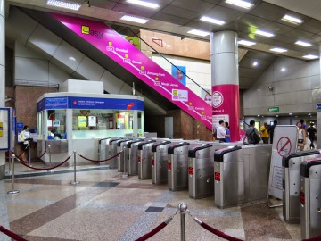 Ticket counter and ticketing machines, KL Sentral LRT station