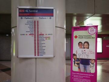 Notice board, KL Sentral LRT station