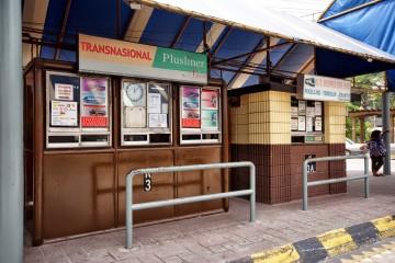 Transnasional ticket booth, Pekeliling Bus Terminal