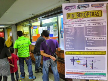 Ticket counters, Putra Bus Terminal
