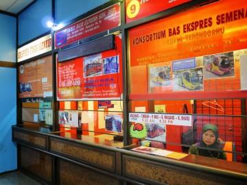 Ticket counters, Putra Bus Terminal