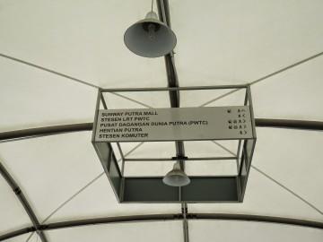 Signboard located at Pedestrian bridge near Putra Bus Terminal