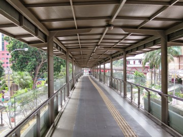 A walk on the Pedestrian bridge near Putra Bus Terminal