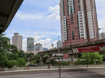 LRT Track near Putra Bus Terminal