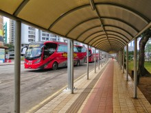 Covered walkway to the Putra Komuter station