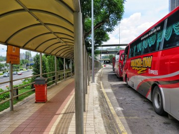 Covered walkway to the Putra Bus terminal