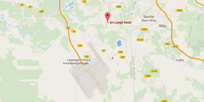 Location map of Sri Langit Hotel