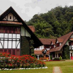 The Lakehouse Hotel, overlooking rolling hills & verdant woodlands
