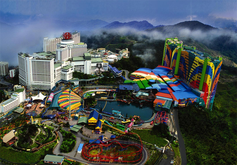 A view of the Genting Highlands