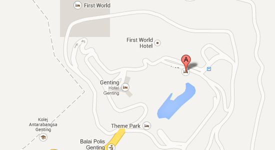 Map to Genting Grand Hotel
