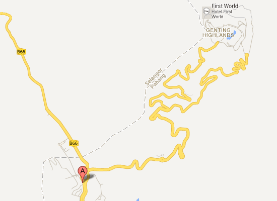 Map to Hotel Seri Malaysia Genting Highlands