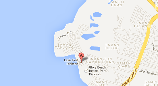 Map to Grand Lexis Port Dickson