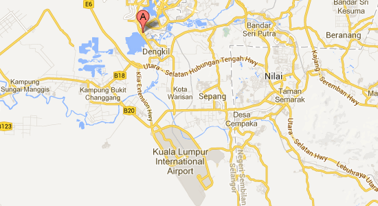 Map to Sepang Budget Hotel
