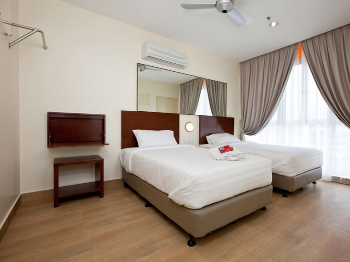 Twin room, Tune Hotel Kota Damansara