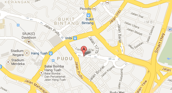 Map to Furuma Hotel Bukit Bintang