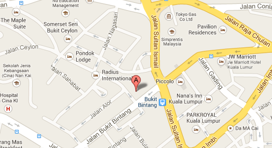 Map to Hotel Imperial Bukit Bintang