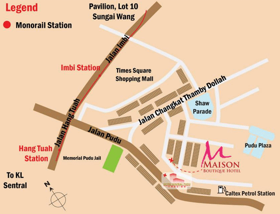 Map to Hotel Maison Boutique