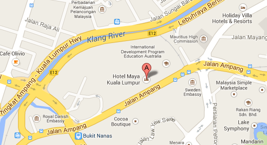 Map to Hotel Maya