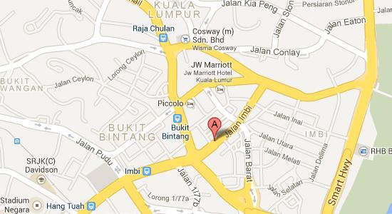 Map to Melia Kuala Lumpur