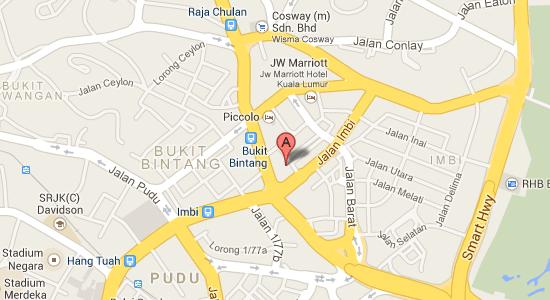 Map to PARKROYAL Kuala Lumpur