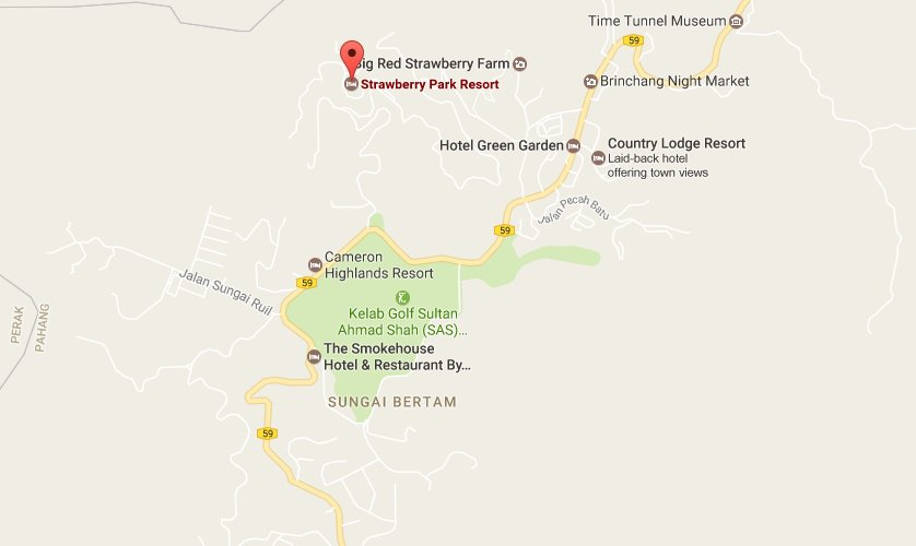 Strawberry Park Resort Location Map