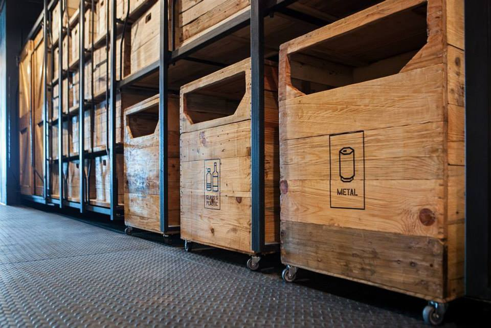 Recycle bins, Capsule by Container Hotel
