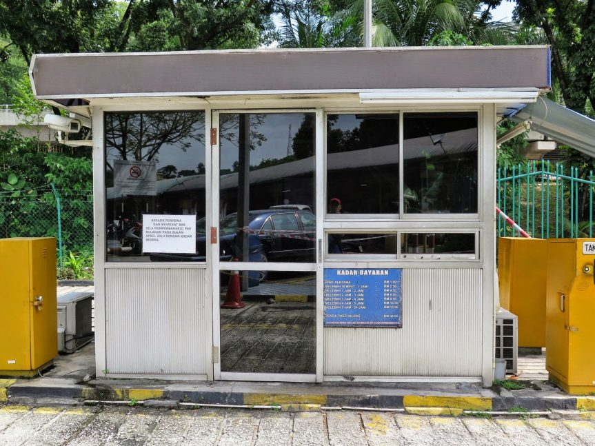 Parking payment booth, Duta Bus Terminal