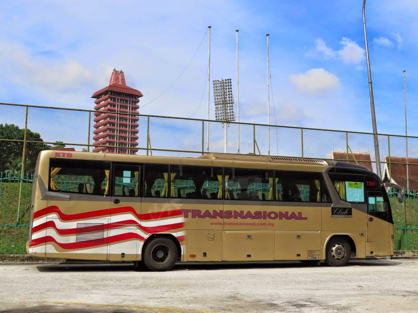 Transnasional bus at Duta Bus Terminal