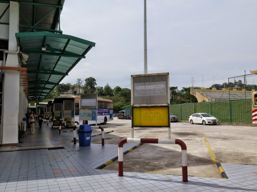 Bus parking bays, Duta Bus Terminal