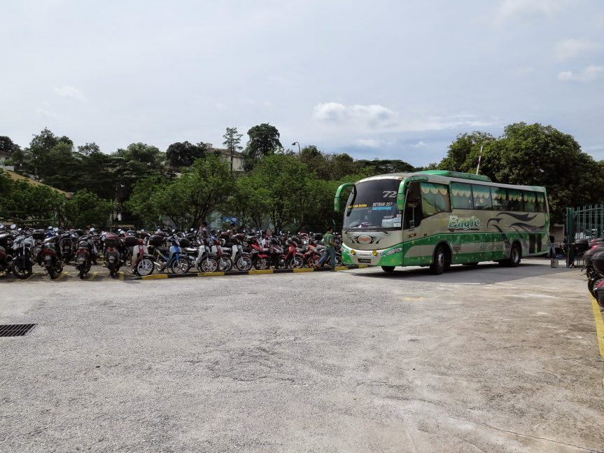 Bus arriving Duta Bus Terminal