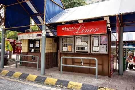 Mara Liner ticket counter, Pekeliling Bus Terminal