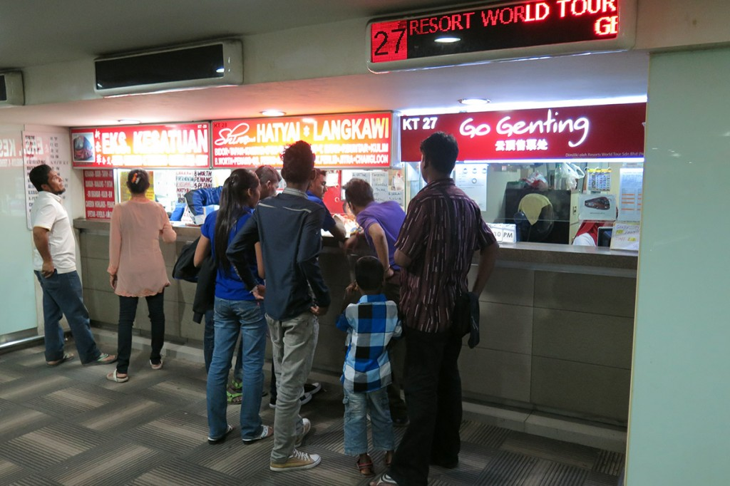 Pudu Sentral ticketing counter