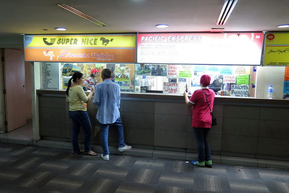 Bus ticket counters