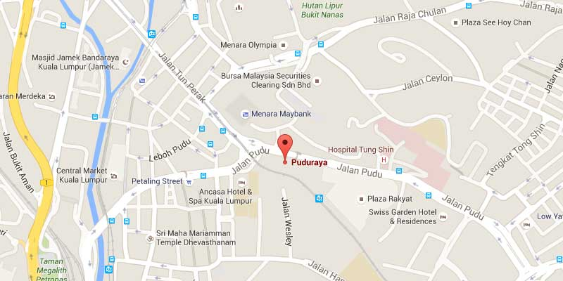 Location of Pudu Sentral