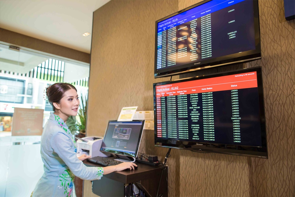 Monitor for flight status