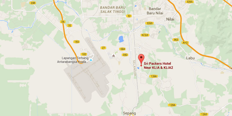 Location map of Sri Packers hotel